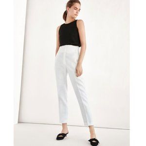 Massimo Dutti White Linen High Rise pants 4 (or 2)